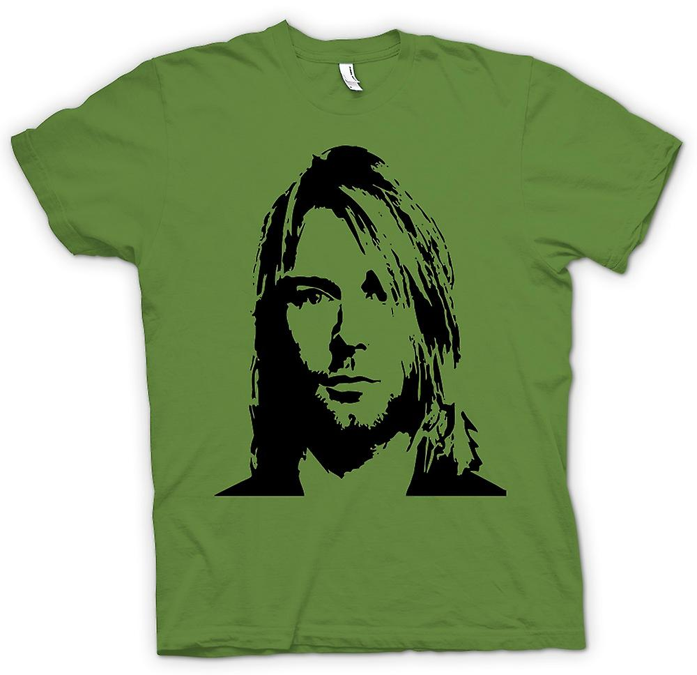 Hombres camiseta-Nirvana - Kurt Cobain - bosquejo
