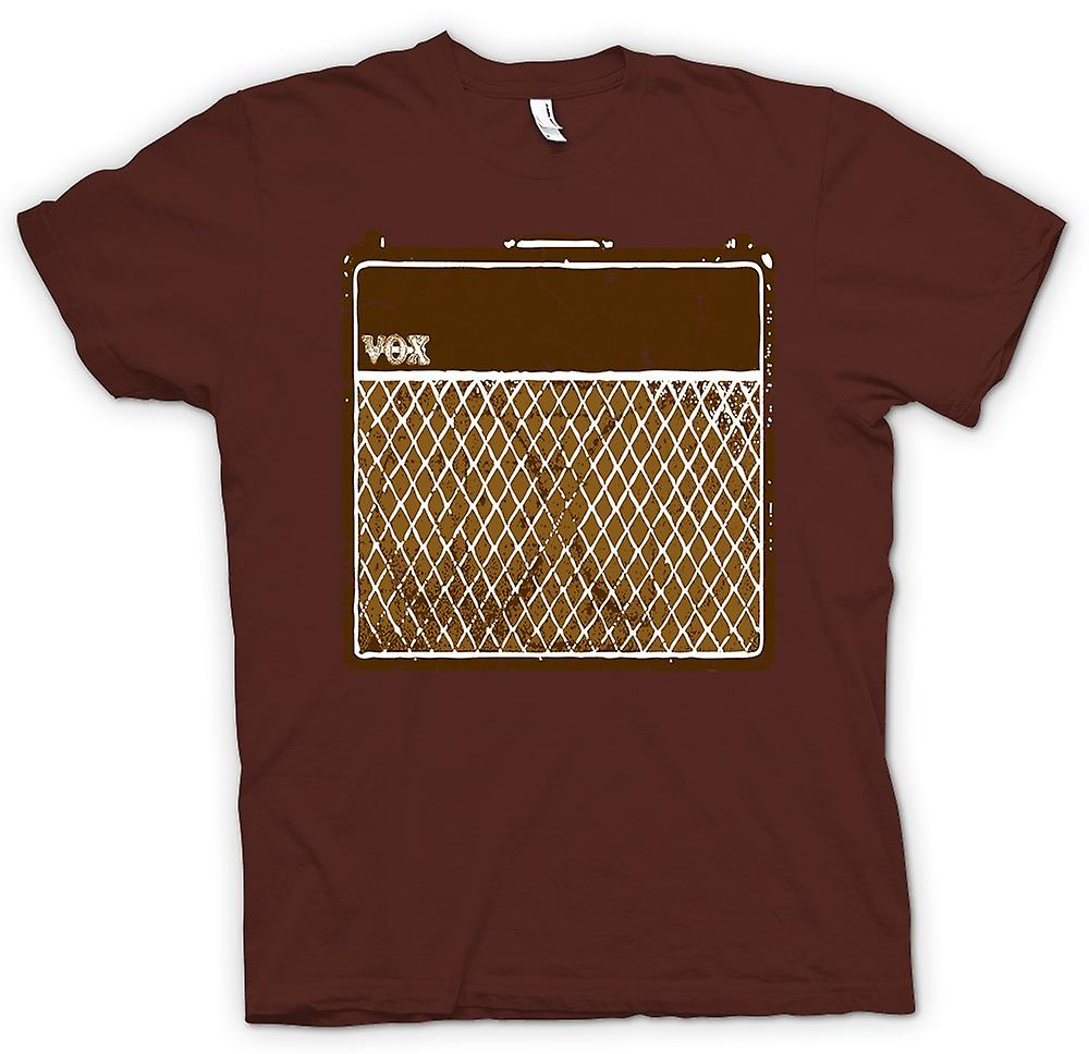 Mens T-shirt - Vox Guitar Amps AC30 - Blues Rock Music