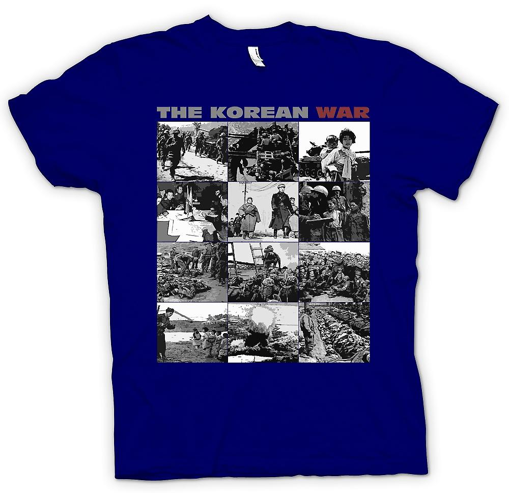 Mens T-shirt-The Korean War - US v Corée noir et blanc Images