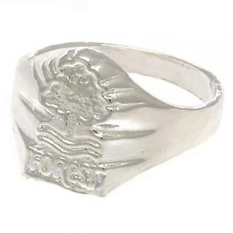 Nottingham Forest Silver Plated Crest Ring Large