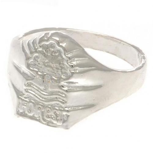 Nottingham Forest Silver Plated Crest Ring Medium