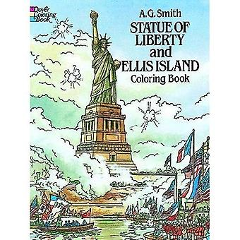 Staty av Liberty och Ellis Island målarbok