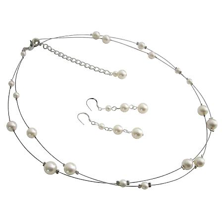 Elegant Most Sleek Wedding Jewelry Set In Ivory Pearls