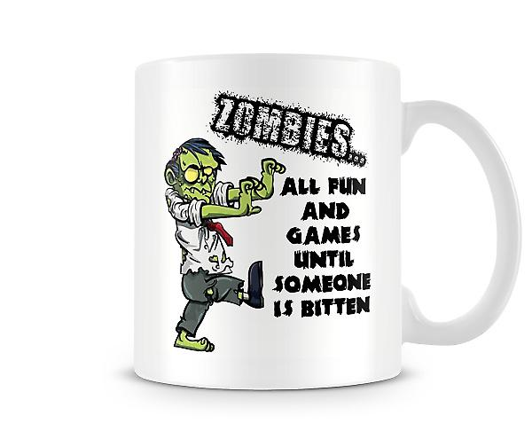 Zombies All Fun Games Until Someone Is Bitten Mug