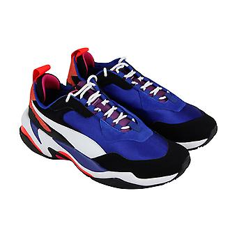 Puma Thunder 4 Life Mens Blue Suede & Nylon Low Top Lace Up Sneakers Shoes