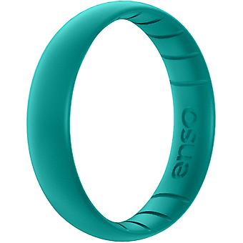 Enso Rings Thin Elements Series Silicone Ring - Peacock Quartz
