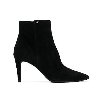 Michael Kors Dorothy Black Suede Ankle Boots