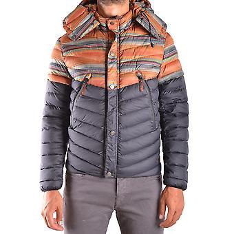 Diadora Orange Nylon Outerwear Jacket