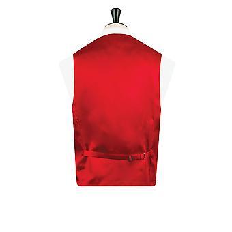 Dobell Boys Red Dupion Waistcoat Regular Fit