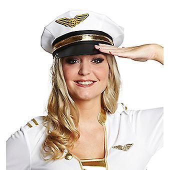 白人の警察官 『 アビエイター 』 の帽子