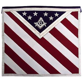 Hånd brodert U. S Master Mason Masonic forkle