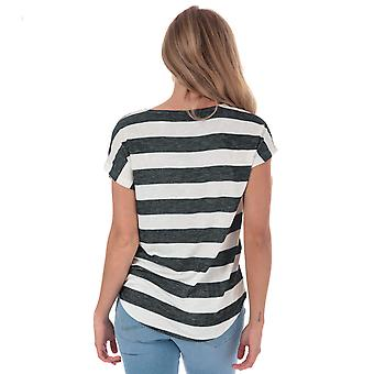 Womens Vero Moda Wide Stripe T-shirt i sort