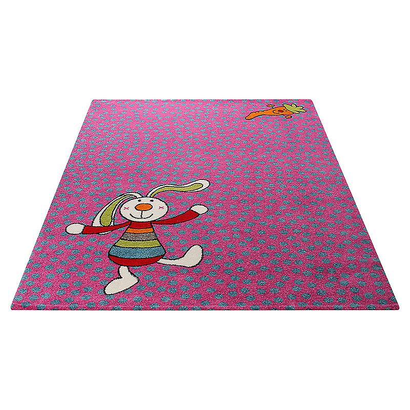 Rugs - Sigi-Kids Rainbow Rabbit Pink - SK 0523-03