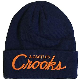 Crooks & Castles Team Crooks Beanie Hat True Navy