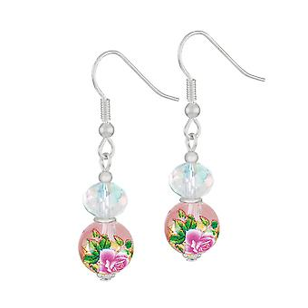 Eternal Collection Serene Pink Floral Glass And Crystal Silver Tone Drop Pierced Earrings Eternal Collection Serene Pink Floral Glass And Crystal Silver Tone Drop Pierced Earrings Eternal Collection Serene Pink Floral Glass And Crystal Silver Tone Drop Pierced Earrings Eternal Collection