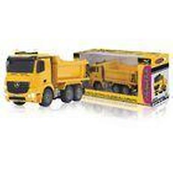 Jamara R/C Dump Truck Mercedes Arocs 3+4 Channel RTR / Sound / With Lights / 4WD 2.4 GHz Control 1:20 Yellow