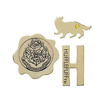 Harry Potter Lapel Pin House Hufflepuff Emblems new Official Metal 3 Pack