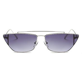 Estevan | s3008 - women metal retro flat lens rectangular sunglasses
