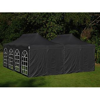 Namiot ekspresowy FleXtents Easy up pavillon Steel 6x6m Czarny, ze 8 ścianami bocznymi