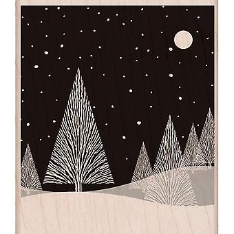 Hero Arts gemonteerd stempels Winter Moon K5620