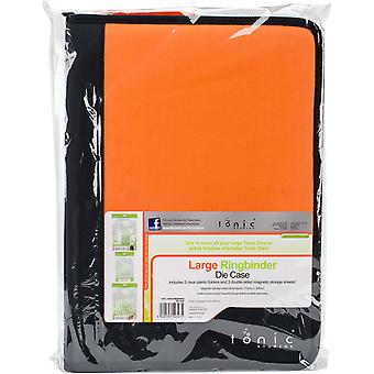 Tonic Studios Large Ring Binder Die Case-Black & Orange 347E