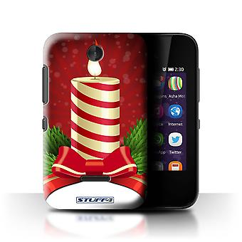 STUFF4 Case/Cover for Nokia Asha 230/Candle/Advent/Christmas Decorations
