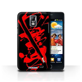 STUFF4 Case/Cover for Samsung Galaxy S2 Duos/i929/Red/Brush/Paint Splatter