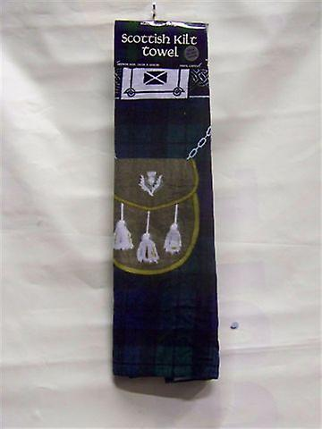 Black Watch Tartan Kilt Beach Towel
