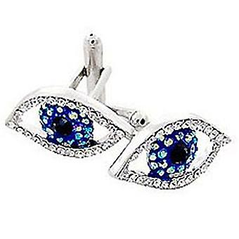 Butler and Wilson Crystal Eye Cufflinks