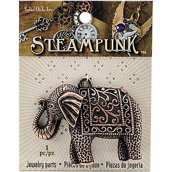 Steampunk Metal Pendant 1/Pkg-Elephant Copper STEAM118