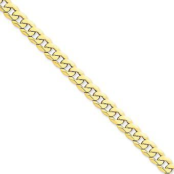 14 k gule gull Solid polert hummer Claw nedleggelse 8mm skrå dempe kjeden Anklet - 9 tommer - hummer klo