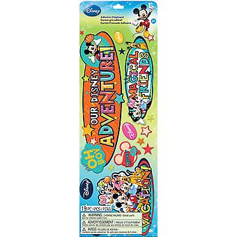 Disney Adhesive Chipboard-Mickey Family - Titles E5150059