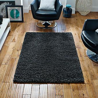 Harmony Shaggy Rugs In Charcoal