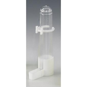Quiko Vogel Käfig Trinker niedrige Blende weiß Clip (Packung mit 12)