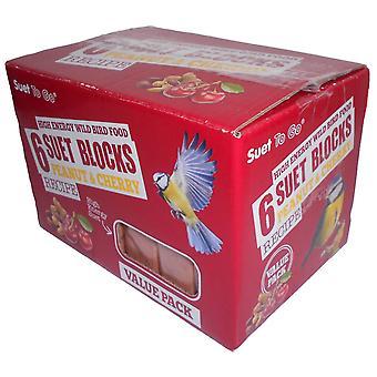 Oksetalg gå blokke Peanut & Cherry værdi 6 Pack