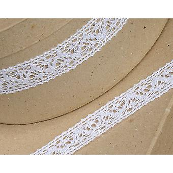 25mm White Cotton Lace Border Ribbon for Craft - 10m   Ribbons & Bows for Crafts