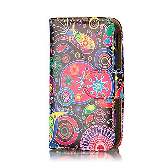 Design Book Leather Case Cover for Samsung Galaxy Young S6310 - Jellyfish