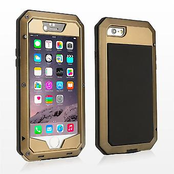 Pesanti metal shock prova cover per Apple iPhone 6 6S - oro