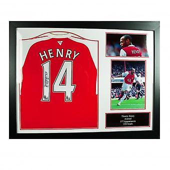 Arsenaal Henry ondertekend Shirt (geframede)
