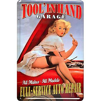 Tool In Hand PinUp metal sign 300mm x 200mm (jk)