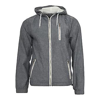 Urban classics men's chambray jacket with hood