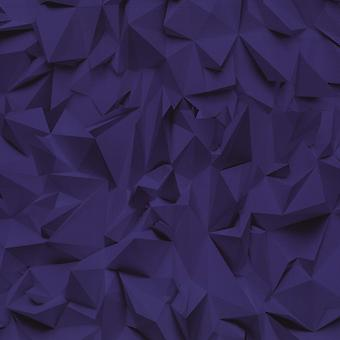 3D Effect Purple Grey Futuristic Metallic Vinyl Wallpaper P+S