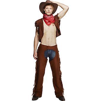 Cowboy kostyme homofil CSD stripper cowboy kostyme semsket ser menn Gr. M