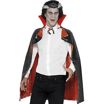 Reversible PVC vampire Cape, black and Red