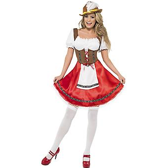 Bavarian girl costume dress Dirndl with attached apron