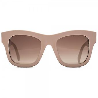 Stella McCartney Falabella Chain Temple Detail Square Sunglasses In Nude Pink