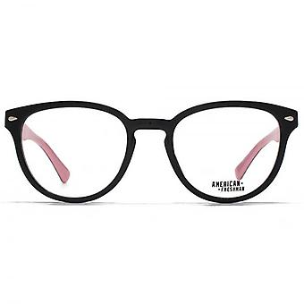 American Freshman Dakota Retro Round Glasses In Black