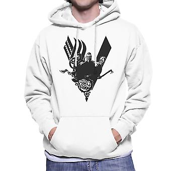Plunder Vikings Ragnar Lothbrok Men's Hooded Sweatshirt