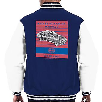 Haynes Workshop handmatige 0904 Ford Sierra V6 4 X 4 Stripe mannen Varsity Jacket