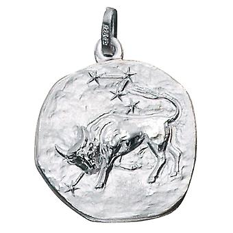 Trailer zodiac sign Taurus 925 sterling silver frosted zodiac sign pendant